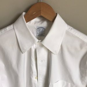 Brooks Brothers, White, Dress Shirt, 15 1/2 - 34